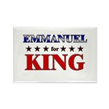 EMMANUEL for king Rectangle Magnet