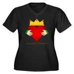 Irish Claddagh Women's Plus Size V-Neck Dark T-Shi