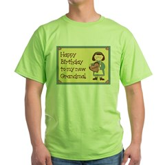New Grandma Birthday Green T-Shirt