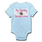 My Daddy Saves Lives-Girl Infant Bodysuit