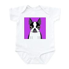 Boston Terrier (Black) Infant Bodysuit