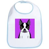 Boston Terrier (Black) Bib