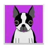 Boston Terrier (Black) Tile Coaster