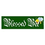 Blessed Bee - Wicca Bumper Car Sticker