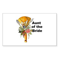 Jumping the Broom Aunt of the Bride Sticker (Recta