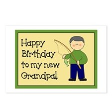 New Grandpa Birthday Postcards (Package of 8)