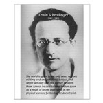 Erwin Schrodinger One Reality Small Poster