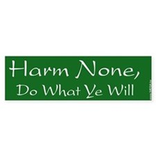 Harm None, Do What Ye Will - Bumper Bumper Sticker