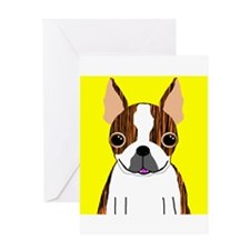 Boston Terrier (Brindle) Greeting Card