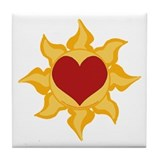 Heart and Sun Picture Tile Coaster