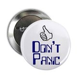 "Don't Panic - 2.25"" Button (100 pack)"
