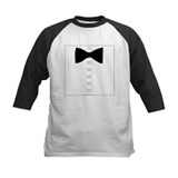 Black bow tie formal tuxedo Tee