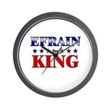 EFRAIN for king Wall Clock