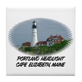 Portland Headlight ~ Tile Coaster