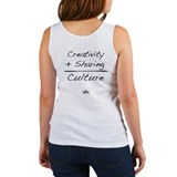 Creativity + Sharing = Culture Women's Tank Top