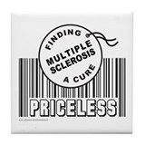 MULTIPLE SCLEROSIS FINDING A CURE Tile Coaster