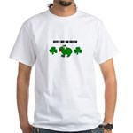 KISS ME I'M IRISH LUCKY White T-Shirt