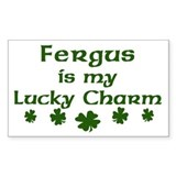 Fergus - lucky charm Rectangle Decal
