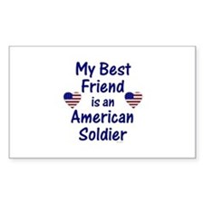 Best Friend/Soldier Rectangle Decal