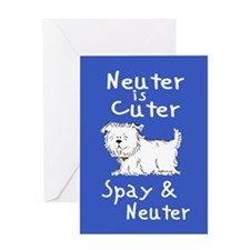 Neuter Is Cuter (Dog) Greeting Card