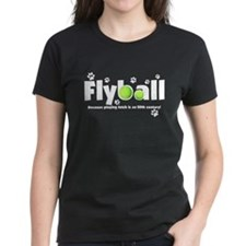 Not Fetch Flyball Women's Black Tee (White Text)