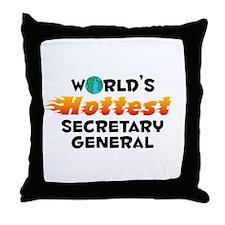 World's Hottest Secre.. (C) Throw Pillow