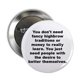 "Adam cooper and bill collage quotation 2.25"" Button (100 pack)"