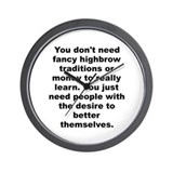 Adam cooper and bill collage quotation Wall Clock