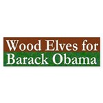 Wood Elves for Barack Obama decal