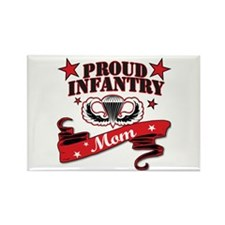 Proud Infantry Mom Rectangle Magnet