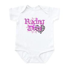 Racing Diva Pink Infant Bodysuit