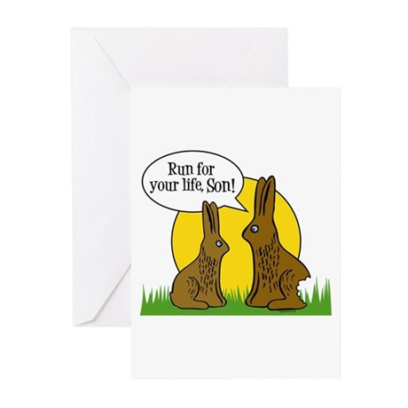 Run For Your Life Greeting Cards (Pk of 10)