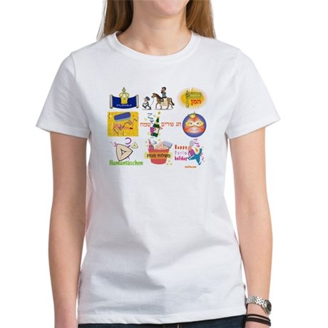 Happy Purim Collage Women's T-Shirt