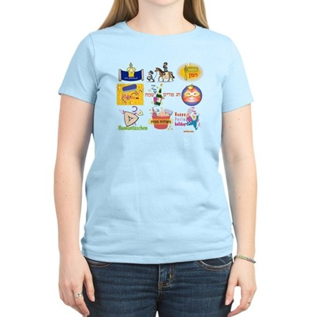 Happy Purim Collage Women's Light T-Shirt