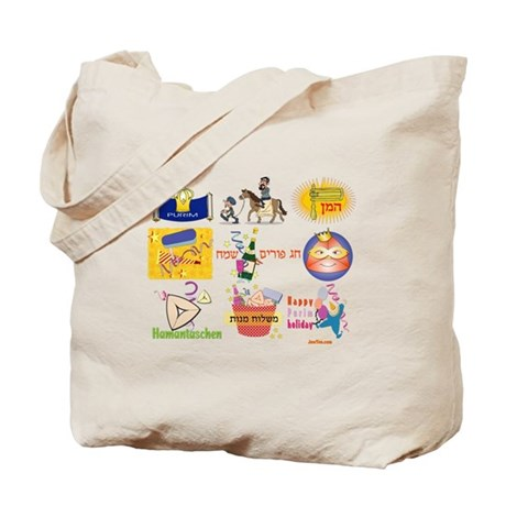 Happy Purim Collage Tote Bag