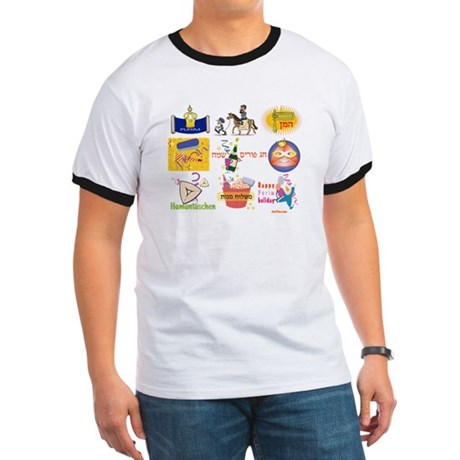 Happy Purim Collage Ringer T