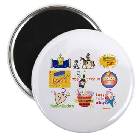 "Happy Purim Collage 2.25"" Magnet (100 pack)"