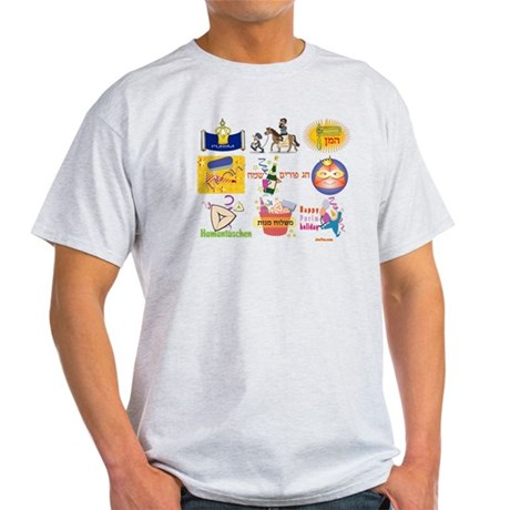 Happy Purim Collage Light T-Shirt