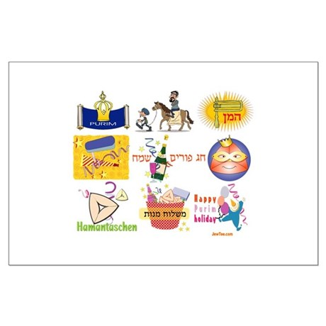 Happy Purim Collage Large Poster