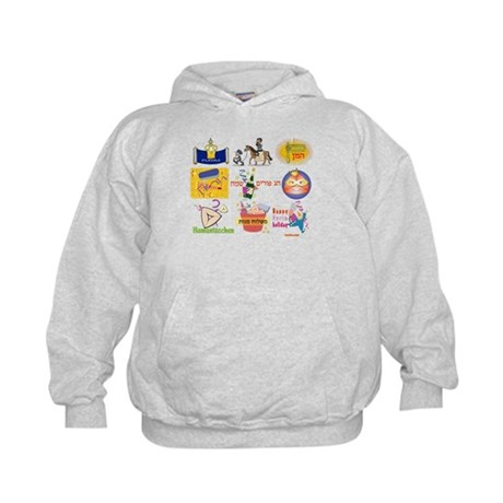 Happy Purim Collage Kids Hoodie