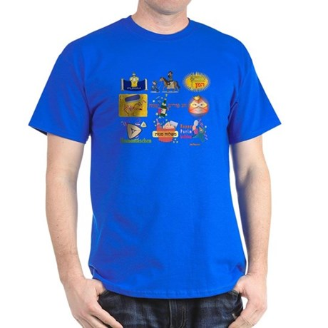 Happy Purim Collage Dark T-Shirt