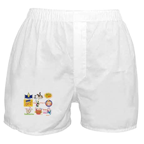Happy Purim Collage Boxer Shorts