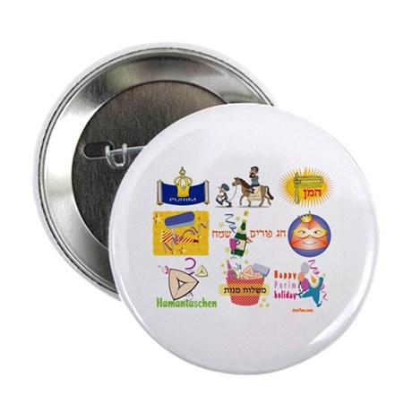 "Happy Purim Collage 2.25"" Button (10 pack)"