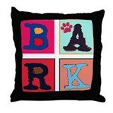 Warhol-Inspired Bark Throw Pillow