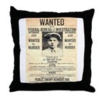 Baby Face Nelson Throw Pillow