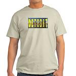 DETROIT (YELLOW LETTERS)SKYLINE   Ash Grey T-Shirt