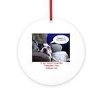 SAD DOG VALENTINES Ornament (Round)