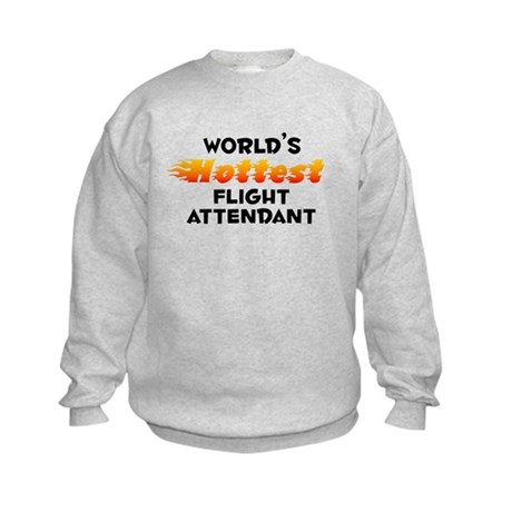 World's Hottest Fligh.. (B) Kids Sweatshirt