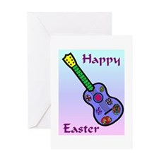 Easter Guitar Greeting Card