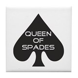 Queen of Spades Tile Coaster